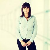 Young beautiful business woman portrait