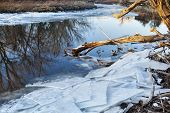 stock photo of collins  - Cache la Poudre River in Fort Collins - JPG