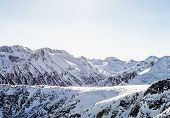 pic of gory  - Winter landscape of mountains covered snegom - JPG