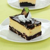 picture of cheesecake  - Chocolate Cheesecake with two kinds of chocolate