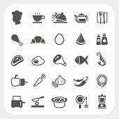 foto of chinese menu  - Food icons set isolated on white background - JPG