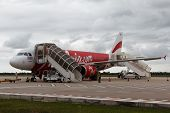 Airasia Aircraft After Landing At Siem Reap Airport