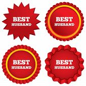 Best husband sign icons.