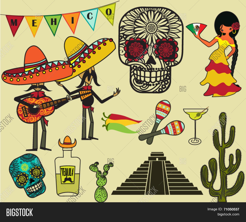Mexico Clip Art and Symbols - Cartoon style illustration ...