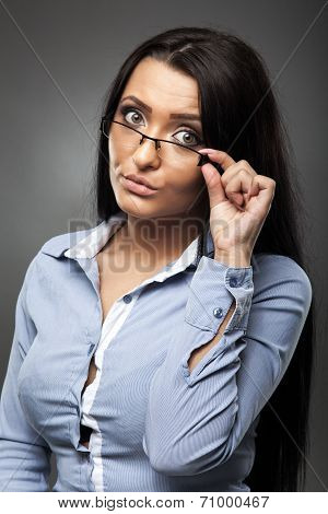 Worried Hispanic Businesswoman