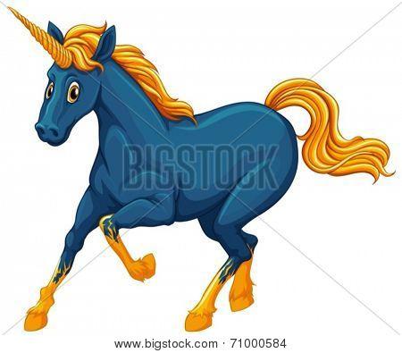Illustration of a single unicorn