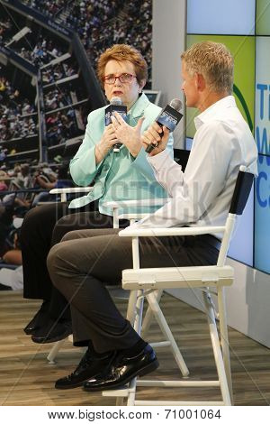 Tennis legend and Grand Slam Champion Billie Jean King during press conference