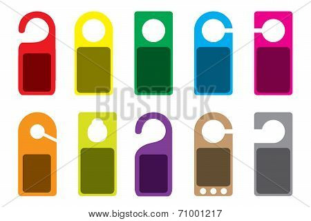 Illustration Of Blank Colourful Do Not Disturb Signs