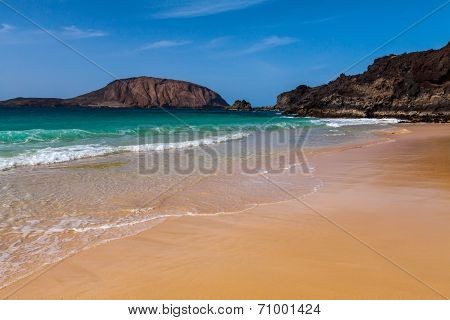 tropical  paradise beach of Canary