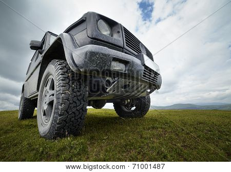 Offroad Car In The Mountains