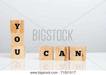 You Can On Wooden Blocks