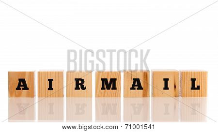 The Word - Airmail - On Wooden Blocks
