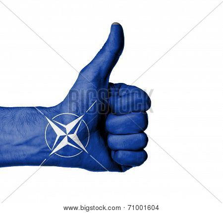 Closeup Of Male Hand Showing Thumbs Up Sign