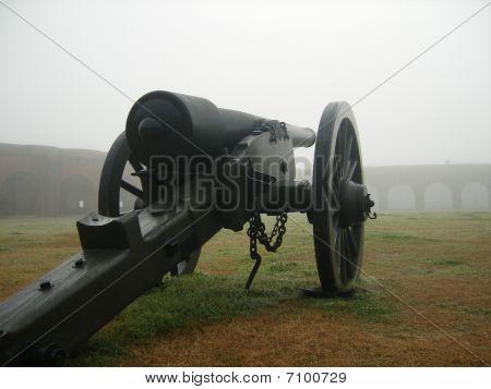 Cannon in thr fog