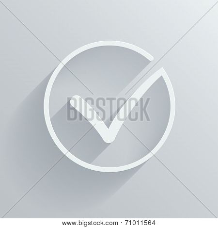 Different grey and white vector check mark