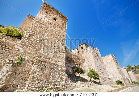 Exterior view of Alcazaba walls