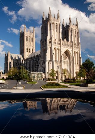 Reflection Of Washington Cathedral