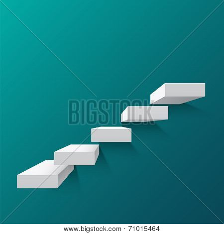 Abstract background with white stairs