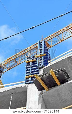 Concrete formwork and floor beams