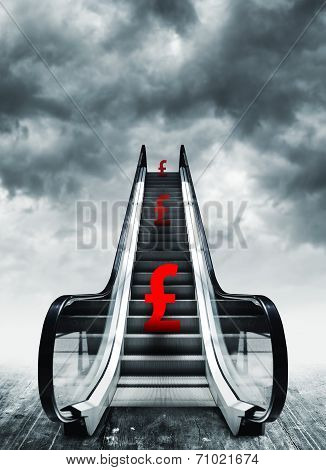 Pound Symbol On Escalators