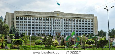 Almaty, Kazakhstan - The Building Of City Administration At The Republic Square
