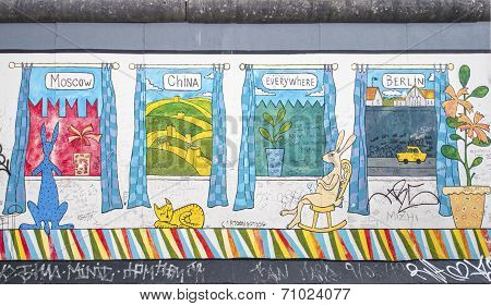 East Side Gallery Graffiti Windows
