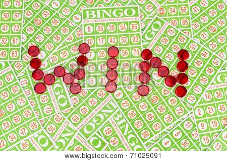 Bingo Chip Arrange In