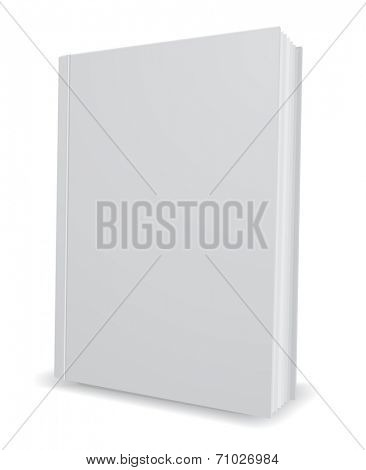 white book 3d icon design element