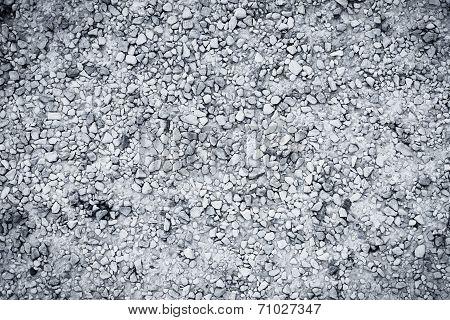 Texture Of Wet Gravel Road