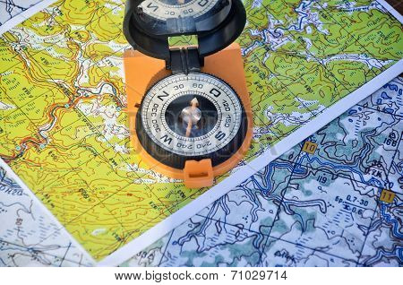 Open Compass On The Map