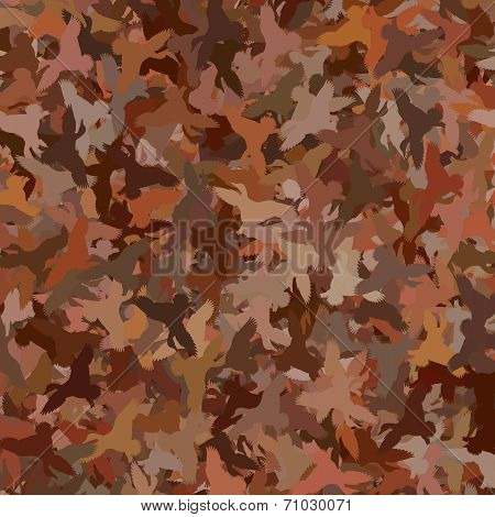 Duck Camouflage - Brown / Red