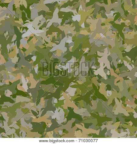 Duck Camouflage - Green / Tan