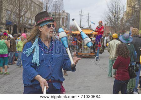 Mardi Gras Street  Juggler