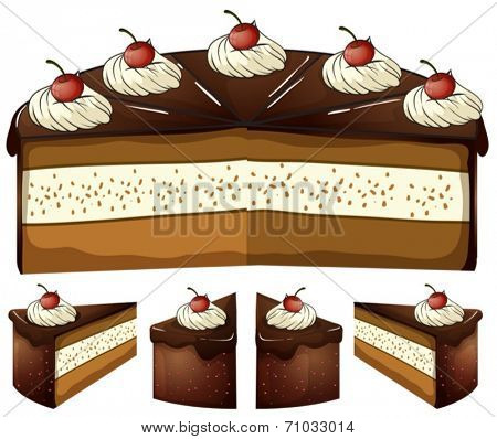 Illustration of chocolate cake