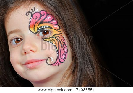 Pretty girl with face painting