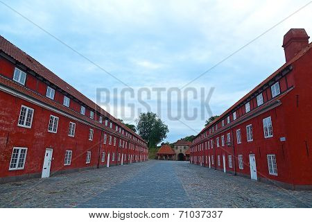 Army barracks at Kastellet Citadel in Copenhagen
