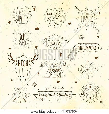 Premiun retro emblem collection