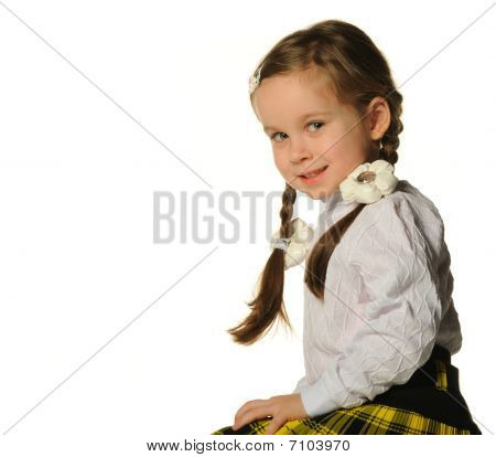 Portrait Of The Pretty Little Girl