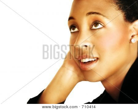 Thinking Young Black Woman