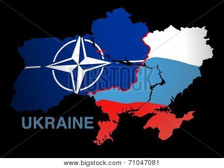 Ukraine Map Nato V Russia