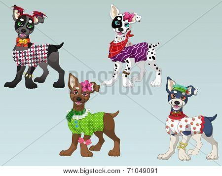 Lovely Dogs Dress up 2