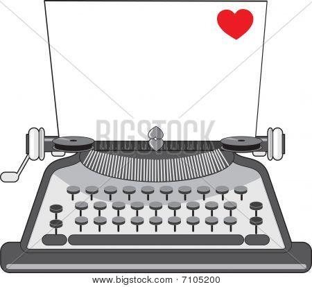 Old Typewriter Heart
