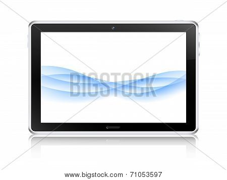 Tablet Computer Concept. Vector Illustration