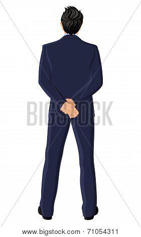 Businessman back view