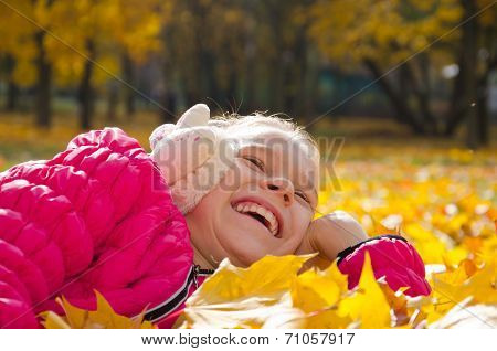 Child On Leaves