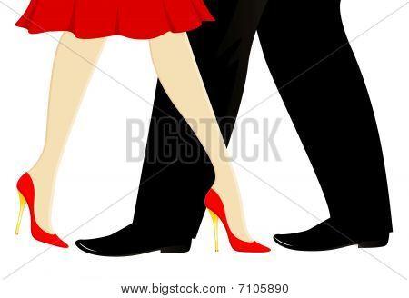 legs dance a tango