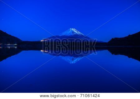 World Heritage Mount Fuji at very early morning