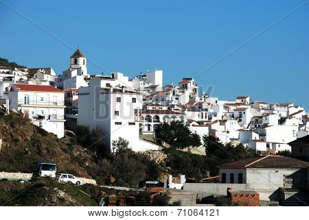 White town, Canillas de Aceituno, spain.