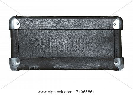 Isolated Luggage Suitcase Silvery Color