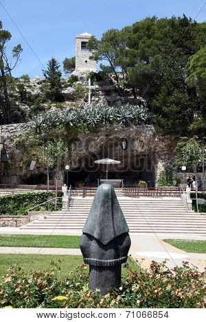 VEPRIC, CROATIA - JUNE 07: Shrine of Our Lady of Lourdes in Vepric, Croatia, on June 07, 2012.